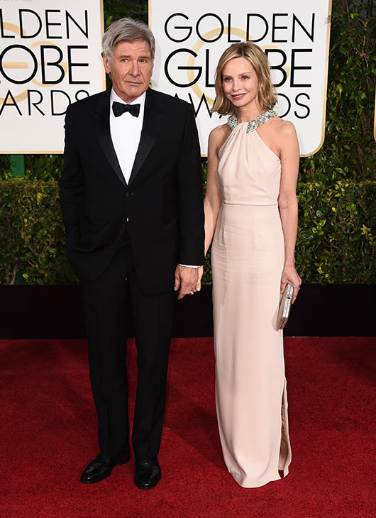 <div class='meta'><div class='origin-logo' data-origin='AP'></div><span class='caption-text' data-credit=''>Harrison Ford, left, and Calista Flockhart arrive at the 72nd annual Golden Globe Awards at the Beverly Hilton Hotel on Sunday, Jan. 11, 2015, in Beverly Hills, Calif.</span></div>