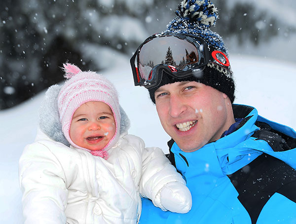 <div class='meta'><div class='origin-logo' data-origin='none'></div><span class='caption-text' data-credit='John Stillwell/Pool via AP'>Britain's Prince William poses with daughter Princess Charlotte while skiing in the French Alps on March 3, 2016.</span></div>