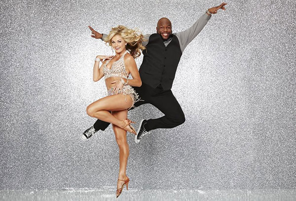 <div class='meta'><div class='origin-logo' data-origin='none'></div><span class='caption-text' data-credit='ABC Television Network'>Wanya Morris of Boyz II Men poses with partner Lindsay Arnold.</span></div>