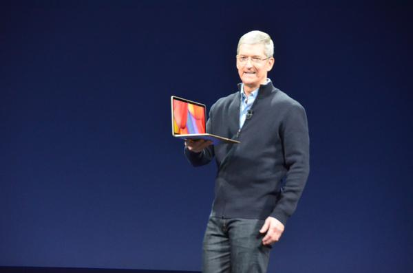 "<div class=""meta image-caption""><div class=""origin-logo origin-image kgo""><span>KGO</span></div><span class=""caption-text"">Apple CEO Tim Cook with Apple's new MacBook the Apple Watch event in San Francisco on Monday, March 9, 2015. (KGO)</span></div>"