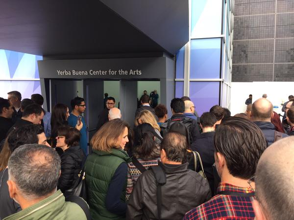 "<div class=""meta image-caption""><div class=""origin-logo origin-image kgo""><span>KGO</span></div><span class=""caption-text"">People line up to get into the Apple Watch event in San Francisco on Monday, March 9, 2015. (KGO)</span></div>"