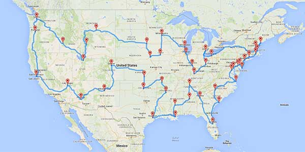 Computer Science Expert Maps Out Optimal Route For Road Trip To - The crew us map