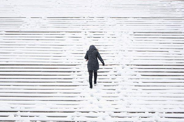 "<div class=""meta image-caption""><div class=""origin-logo origin-image none""><span>none</span></div><span class=""caption-text"">A woman climbs the snow covered steps of the Philadelphia Museum of Art during a winter storm in Philadelphia, Tuesday, March 14, 2017. (Matt Rourke/AP Photo)</span></div>"