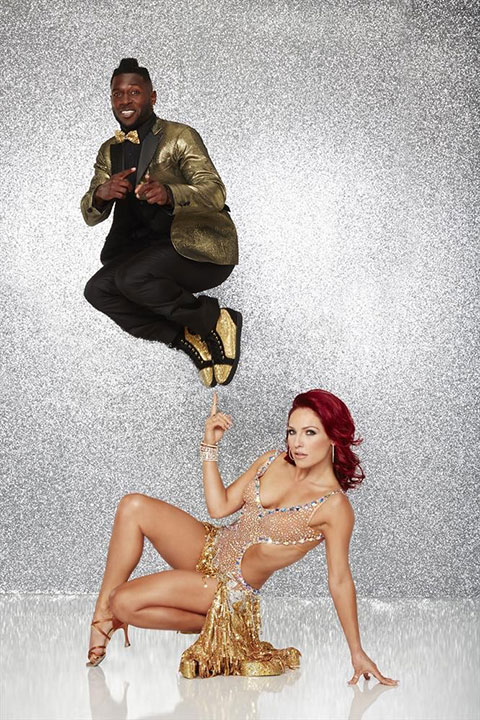 <div class='meta'><div class='origin-logo' data-origin='none'></div><span class='caption-text' data-credit='ABC Television Network'>Pittsburgh Steelers wide receiver Antonio Brown poses with partner Sharna Burgess.</span></div>