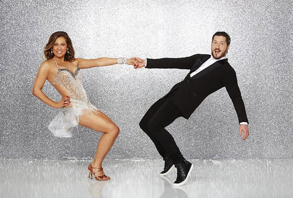 <div class='meta'><div class='origin-logo' data-origin='none'></div><span class='caption-text' data-credit='ABC Television Network'>Ginger Zee, chief meteorologist for ''Good Morning America,'' poses with partner Val Chmerkovskiy.</span></div>