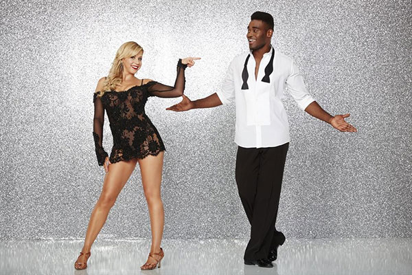 <div class='meta'><div class='origin-logo' data-origin='none'></div><span class='caption-text' data-credit='ABC Television Network'>Jodie Sweetin of ''Full House'' fame poses with partner Keo Motsepe.</span></div>