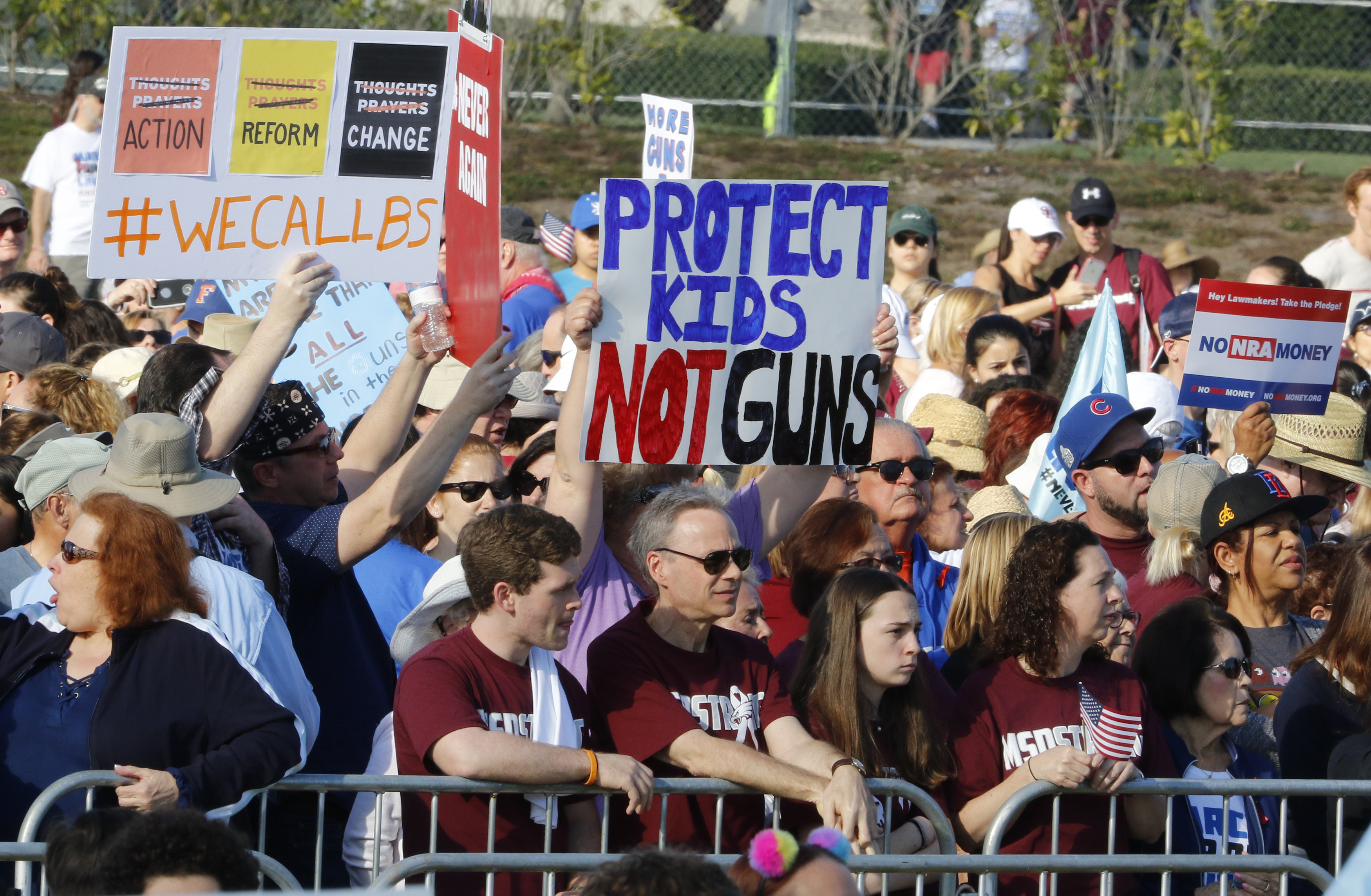 <div class='meta'><div class='origin-logo' data-origin='AP'></div><span class='caption-text' data-credit='AP Photo/Joe Skipper'>Participants gather during the March For Our Lives event Saturday, March 24, 2018, in Parkland, Fla.</span></div>