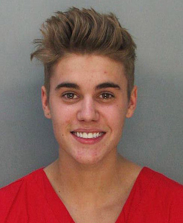 <div class='meta'><div class='origin-logo' data-origin='AP'></div><span class='caption-text' data-credit=''>This police booking mug made available by the Miami Dade County Corrections Department shows pop star Justin Bieber, Thursday, Jan. 23, 2014.</span></div>