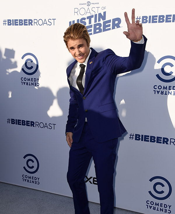 <div class='meta'><div class='origin-logo' data-origin='AP'></div><span class='caption-text' data-credit=''>Justin Bieber arrives at the Comedy Central Roast of Justin Bieber at Sony Pictures Studios on Saturday, March 14, 2015, in Culver City, Calif.</span></div>