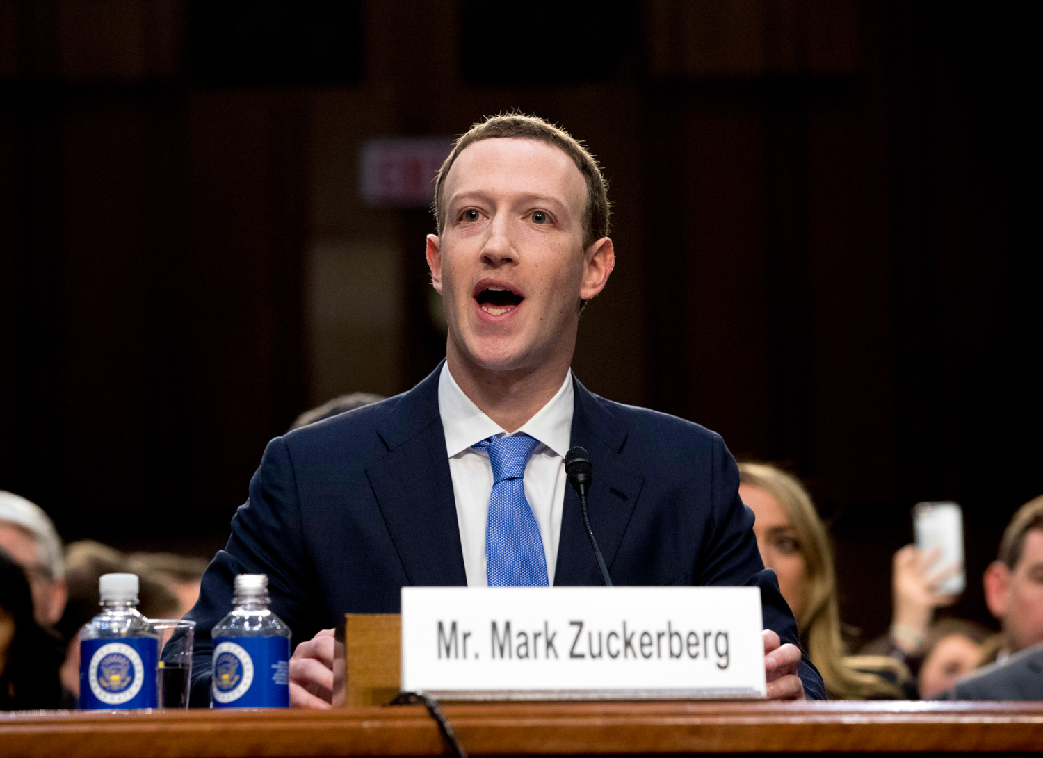 <div class='meta'><div class='origin-logo' data-origin='none'></div><span class='caption-text' data-credit='Andrew Harnik/AP Photo'>Facebook CEO Mark Zuckerberg testifies before a joint hearing of the Commerce and Judiciary Committees on Capitol Hill in Washington.</span></div>