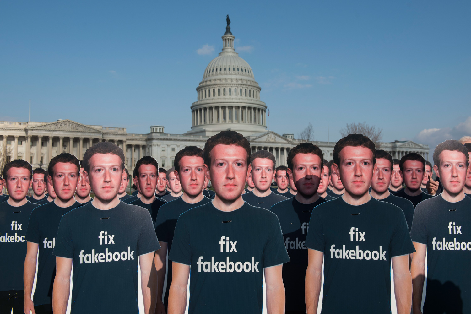 <div class='meta'><div class='origin-logo' data-origin='none'></div><span class='caption-text' data-credit='Kevin Wolf/AP images for AVAAZ'>Advocacy group Avaaz placed 100 cardboard cutouts of Mark Zuckerberg outside the U.S. Capitol in Washington on the day of his testimony to Congress.</span></div>