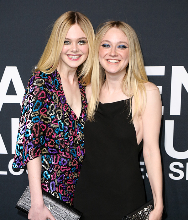 "<div class=""meta image-caption""><div class=""origin-logo origin-image ap""><span>AP</span></div><span class=""caption-text"">Elle Fanning, left, and Dakota Fanning arrive at Saint Laurent at the Palladium at the Hollywood Palladium on Wednesday, Feb. 10, 2016, in Los Angeles. (Rich Fury/Invision/AP)</span></div>"