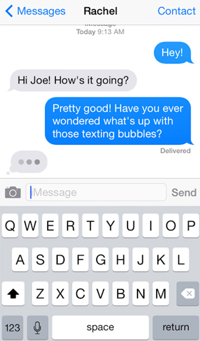 how to draw iphone text bubble