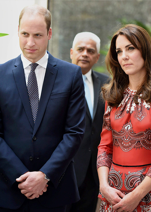 <div class='meta'><div class='origin-logo' data-origin='none'></div><span class='caption-text' data-credit='Mitesh Bhuvad/Pool via AP'>The Duke and Duchess of Cambridge, Prince William, and his wife Kate, stand after laying a wreath at the Taj Mahal Palace Hotel in Mumbai, India on April 10, 2016.</span></div>