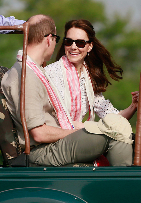 <div class='meta'><div class='origin-logo' data-origin='AP'></div><span class='caption-text' data-credit='Anupam Nath/AP'>Prince William and his wife Kate prepare to set off on a jeep safari at Kaziranga National Park, northeastern Assam state, India Wednesday, April 13, 2016.</span></div>
