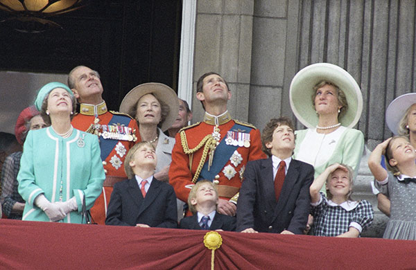 "<div class=""meta image-caption""><div class=""origin-logo origin-image none""><span>none</span></div><span class=""caption-text"">Members of the British Royal Family, including Queen Elizabeth II and Prince Philip watch a ceremony for the Queen's birthday in 1990. (AP Photo)</span></div>"