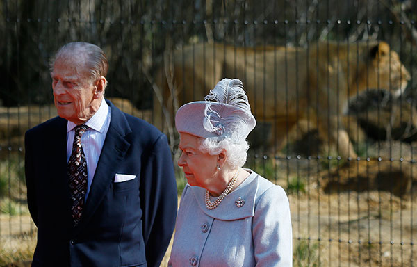 "<div class=""meta image-caption""><div class=""origin-logo origin-image none""><span>none</span></div><span class=""caption-text"">Queen Elizabeth II, right, and Prince Philip stand in front of an Asiatic lioness at the London Zoo in March 2016. (AP Photo/Kirsty Wigglesworth)</span></div>"