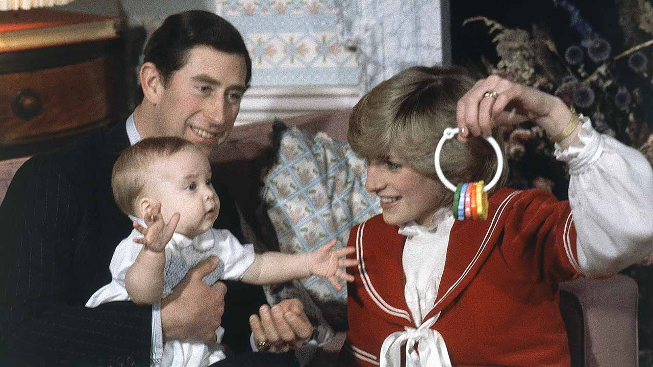 <div class='meta'><div class='origin-logo' data-origin='AP'></div><span class='caption-text' data-credit='AP'>Britain's Prince William, the 6-month old son of Prince Charles and Princess Diana, with his parents at at Kensington Palace in London, England on Dec. 22, 1982.</span></div>