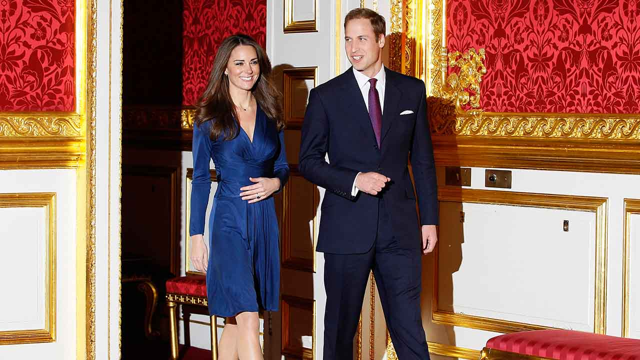 <div class='meta'><div class='origin-logo' data-origin='AP'></div><span class='caption-text' data-credit='AP'>Britain's Prince William and his fiancee Kate Middleton at St. James's Palace in London, Tuesday Nov. 16, 2010, after they announced their engagement.</span></div>