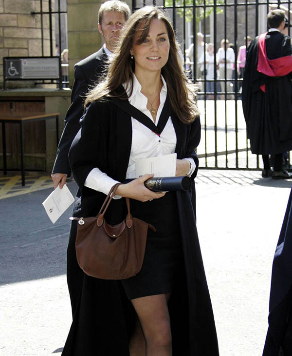 <div class='meta'><div class='origin-logo' data-origin='AP'></div><span class='caption-text' data-credit='AP'>Kate Middleton leaves after attending their university graduation ceremony at St. Andrews University in St. Andrews, Scotland, Thursday, June 23, 2005.</span></div>