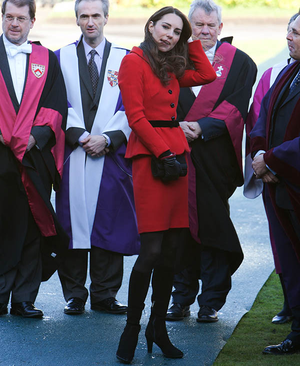 <div class='meta'><div class='origin-logo' data-origin='AP'></div><span class='caption-text' data-credit='AP'>Kate Middleton talks with staff during a visit to St Andrews University, St Andrews Scotland, Friday, Feb. 25 2011.</span></div>