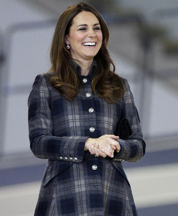 <div class='meta'><div class='origin-logo' data-origin='AP'></div><span class='caption-text' data-credit='AP'>Britain's Kate Duchess of Cambridge smiles during her visit to the Emirates Arena in Glasgow, Scotland. Thursday April 4, 2013.</span></div>