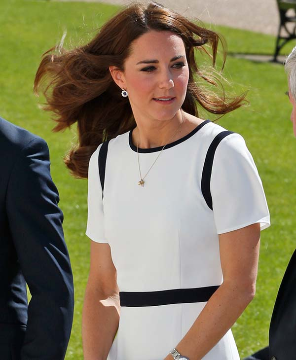 <div class='meta'><div class='origin-logo' data-origin='AP'></div><span class='caption-text' data-credit='AP'>Britain's Kate, Duchess of Cambridge arrives at the National Maritime Museum in Greenwich, London, Tuesday, June 10, 2014.</span></div>