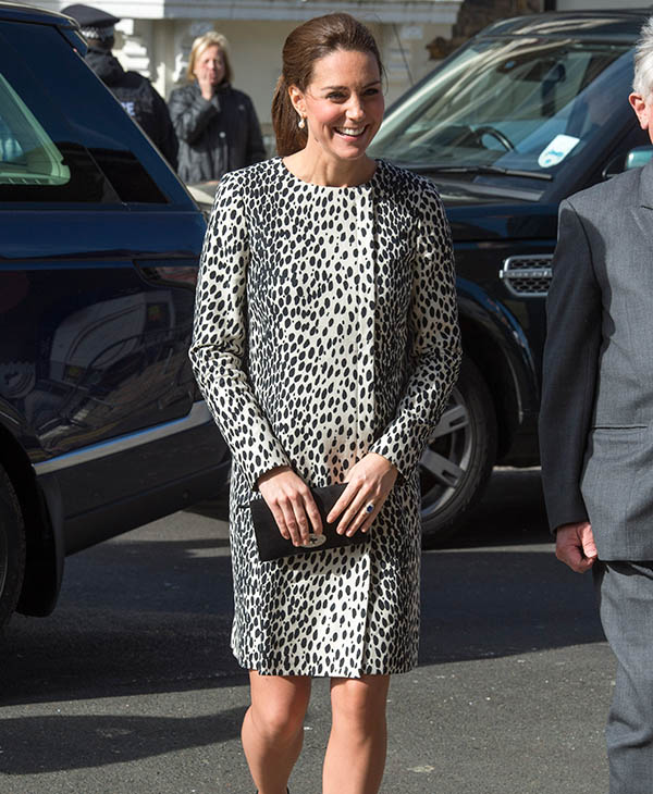 <div class='meta'><div class='origin-logo' data-origin='AP'></div><span class='caption-text' data-credit='AP'>Britain's Kate, Duchess of Cambridge arrives at the Resort Studios, Cliftonville, Margate, Wednesday March 11, 2015.</span></div>
