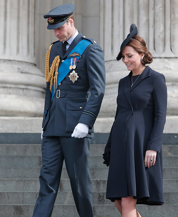<div class='meta'><div class='origin-logo' data-origin='AP'></div><span class='caption-text' data-credit='AP'>Britain's Duke of Cambridge and Duchess of Cambridge leave St Paul's Cathedral, in central London, Friday, March 13, 2015.</span></div>
