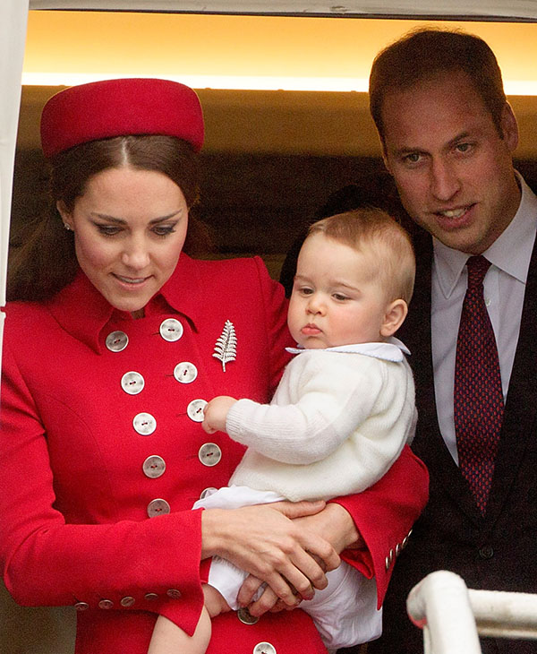 <div class='meta'><div class='origin-logo' data-origin='AP'></div><span class='caption-text' data-credit='AP'>Britain's Prince William and Catherine, Duchess of Cambridge with Prince George arrive at the International Airport, Wellington, New Zealand, Monday, April 07, 2014.</span></div>