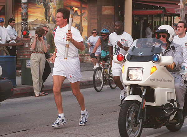 <div class='meta'><div class='origin-logo' data-origin='none'></div><span class='caption-text' data-credit='AP Photo/FRANK WEISE'>Jenner participates in the Olympic Flame Torch Relay in West Hollywood in 1996.</span></div>