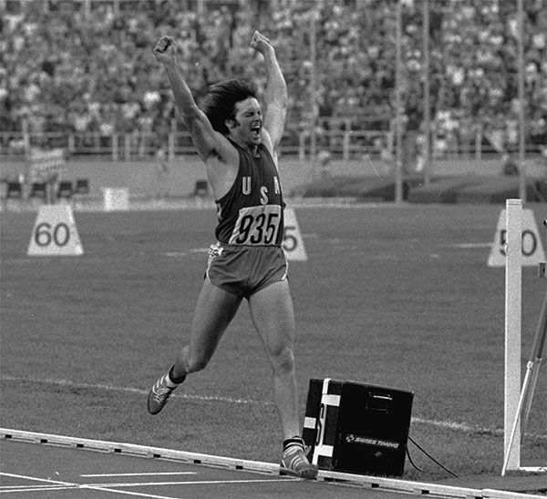 <div class='meta'><div class='origin-logo' data-origin='none'></div><span class='caption-text' data-credit='AP Photo'>Jenner leaps jubilantly in the air after securing gold in the Olympic Decathlon in Montreal, Canada, July 30, 1976.</span></div>