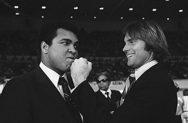 <div class='meta'><div class='origin-logo' data-origin='none'></div><span class='caption-text' data-credit='AP Photo/George Brich'>Jenner plays around with heavyweight champion Muhammad Ali in 1980.</span></div>