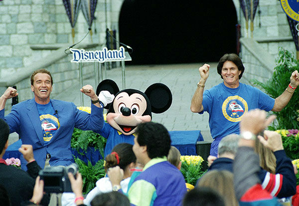 "<div class=""meta image-caption""><div class=""origin-logo origin-image none""><span>none</span></div><span class=""caption-text"">Jenner makes an appearance at Disneyland with Arnold Schwarzenegger in 1995. (AP Photo/MICHAEL TWEED)</span></div>"
