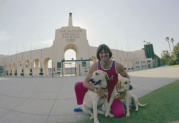 <div class='meta'><div class='origin-logo' data-origin='none'></div><span class='caption-text' data-credit='AP Photo/Jeff Robbins'>Jenner poses outside the Los Angeles Memorial Coliseum with Jenner's dogs in 1978.</span></div>