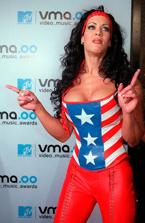 <div class='meta'><div class='origin-logo' data-origin='none'></div><span class='caption-text' data-credit='AP Photo/Tina Fineberg, File'>WWF wrestler and actress Joan Marie Laurer, better known as Chyna, was found dead on April 20. She was 46.</span></div>