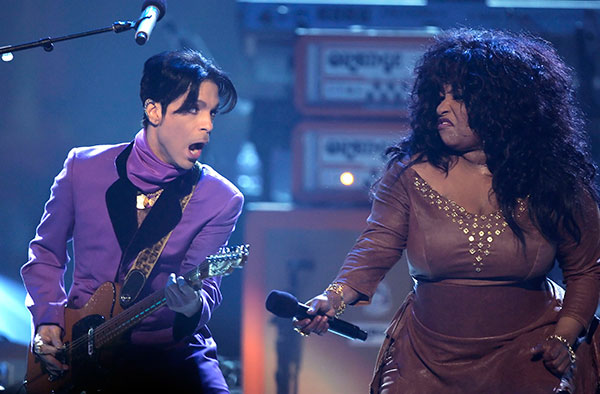 <div class='meta'><div class='origin-logo' data-origin='none'></div><span class='caption-text' data-credit='Chris Carlson/AP Photo'>Prince, left, performs with Chaka Khan during the 6th annual BET Awards on Tuesday, June 27, 2006, in Los Angeles.</span></div>