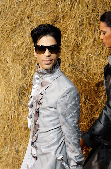<div class='meta'><div class='origin-logo' data-origin='none'></div><span class='caption-text' data-credit='Christophe Ena/AP Photo'>Prince is seen before the presentation of Chanel's  ready-to-wear fashion collection in Oct. 2009 in Paris.</span></div>