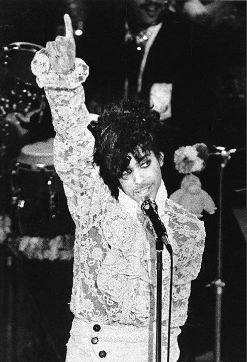 <div class='meta'><div class='origin-logo' data-origin='none'></div><span class='caption-text' data-credit='Liu Heung-Shing/AP Photo'>Prince performs during the 27th annual Grammy Awards at the Shrine Auditorium in Los Angeles, in Feb. 1985.</span></div>