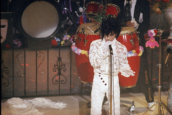 <div class='meta'><div class='origin-logo' data-origin='none'></div><span class='caption-text' data-credit='AP Photo'>Prince performs at the 1985 Grammy Awards at the Shrine Auditorium in Los Angeles, Feb. 26, 1985.</span></div>