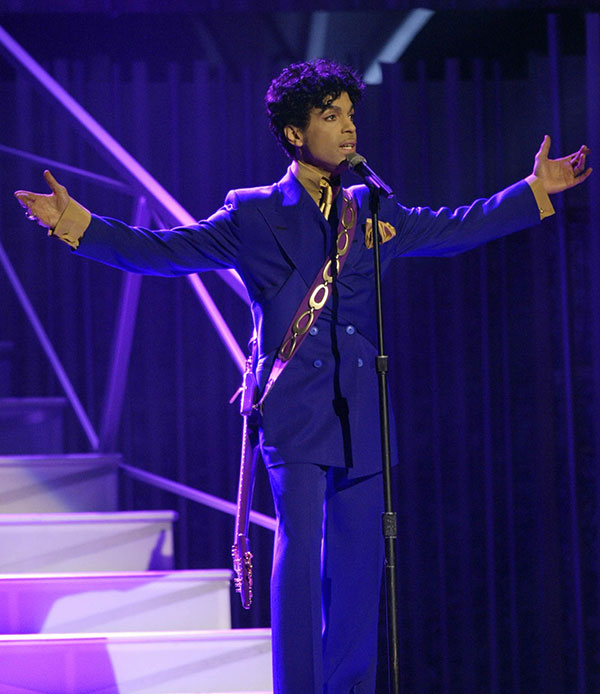 <div class='meta'><div class='origin-logo' data-origin='none'></div><span class='caption-text' data-credit='Kevork Djansezian, File/AP Photo'>Prince performs during the 46th Annual Grammy Awards in Los Angeles in Feb. 2004.</span></div>
