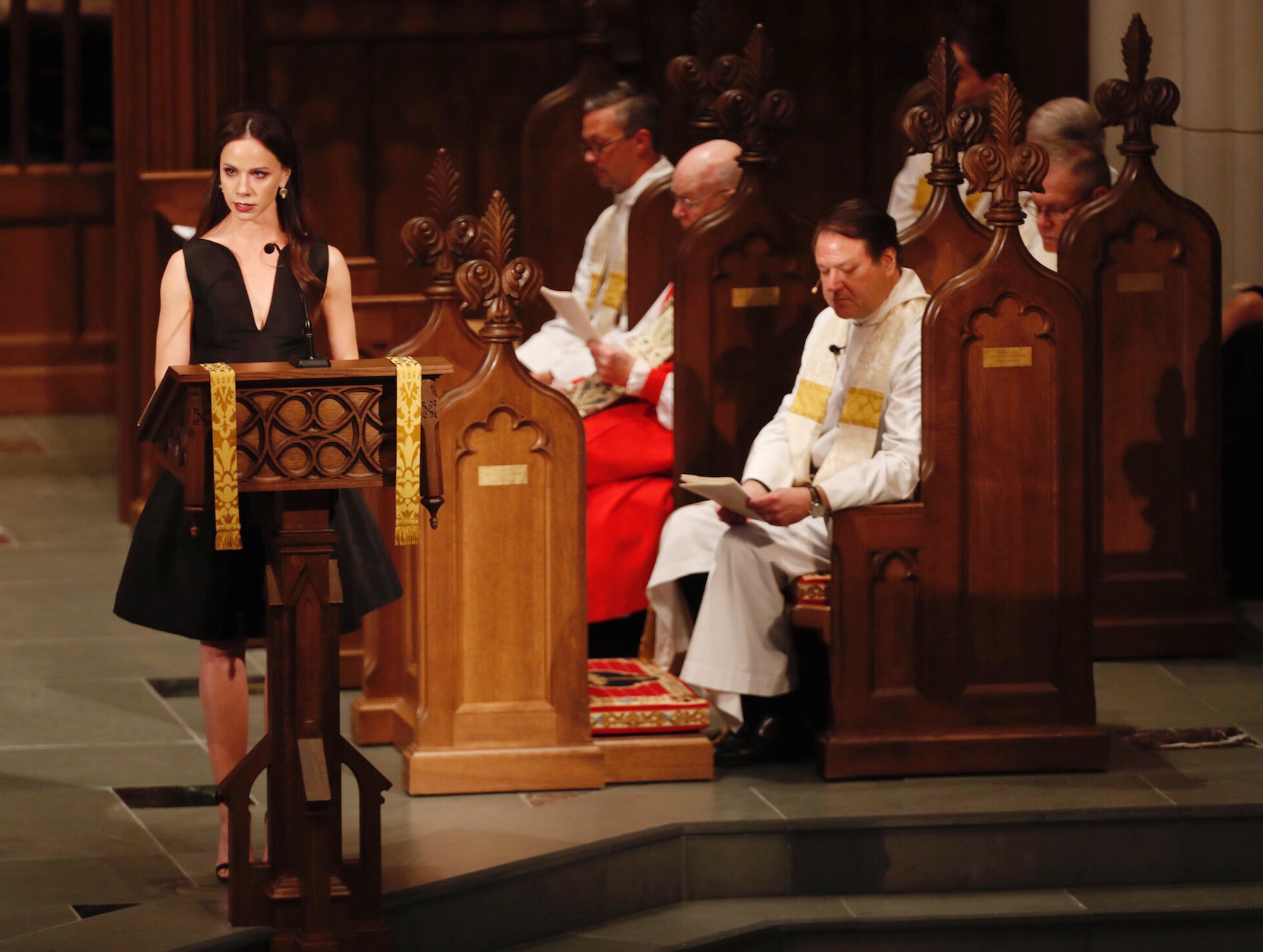 <div class='meta'><div class='origin-logo' data-origin='none'></div><span class='caption-text' data-credit='David J. Phillip-Pool/Getty Images'>Barbara Pierce Bush speaks during the funeral for her grandmother and former first lady Barbara Bush at St. Martin's Episcopal Church on April 21, 2018 in Houston, Texas.</span></div>