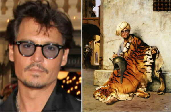 <div class='meta'><div class='origin-logo' data-origin='none'></div><span class='caption-text' data-credit='Photo/Benedicte Lacroix'>Johnny Depp in ''Pelt Merchant of Cairo'' Jean-Léon Gerome</span></div>