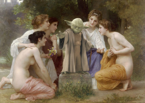 <div class='meta'><div class='origin-logo' data-origin='none'></div><span class='caption-text' data-credit='Photo/Benedicte Lacroix'>Yoda in ''Admiration'' by William-Adolphe Bouguereau</span></div>