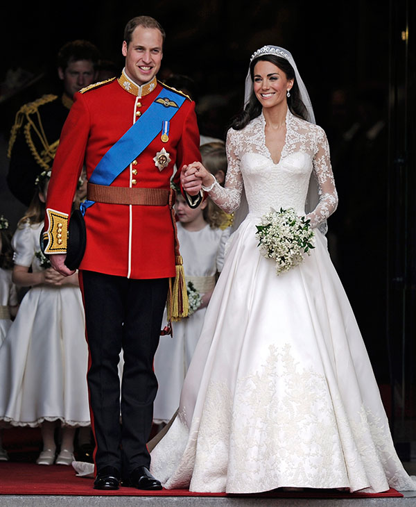 <div class='meta'><div class='origin-logo' data-origin='AP'></div><span class='caption-text' data-credit='AP'>Britain's Prince William and his wife Kate, Duchess of Cambridge stand outside of Westminster Abbey after their Royal Wedding in London Friday, April, 29, 2011.</span></div>