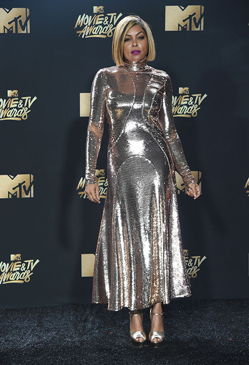 <div class='meta'><div class='origin-logo' data-origin='none'></div><span class='caption-text' data-credit='Richard Shotwell/Invision/AP'>Taraji P. Henson arrives at the MTV Movie and TV Awards at the Shrine Auditorium on Sunday, May 7, 2017, in Los Angeles.</span></div>