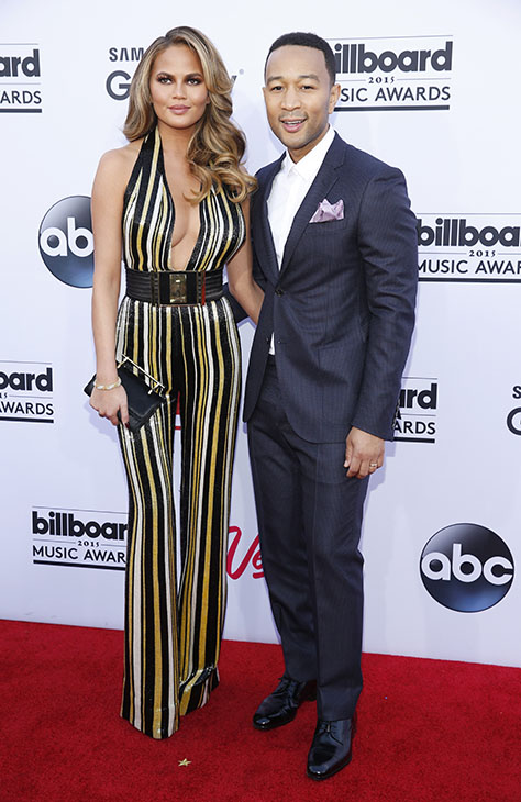 "<div class=""meta image-caption""><div class=""origin-logo origin-image ap""><span>AP</span></div><span class=""caption-text"">Chrissy Teigen, left, and John Legend arrive at the Billboard Music Awards at the MGM Grand Garden Arena on Sunday, May 17, 2015, in Las Vegas. (AP)</span></div>"