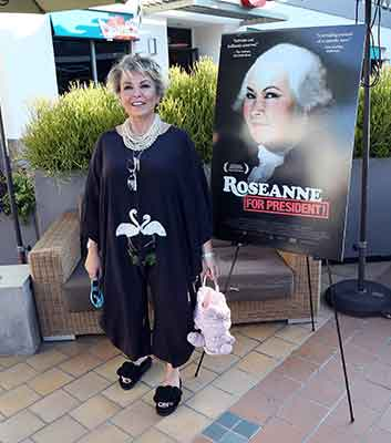 "<div class=""meta image-caption""><div class=""origin-logo origin-image kgo""><span>kgo</span></div><span class=""caption-text"">Actress Roseanne Barr attends a photo call for Roseanne Barr's 'Roseanne for President!' at Sundance Sunset Cinema on July 1, 2016 in Los Angeles, California. (David Livingston/Getty)</span></div>"