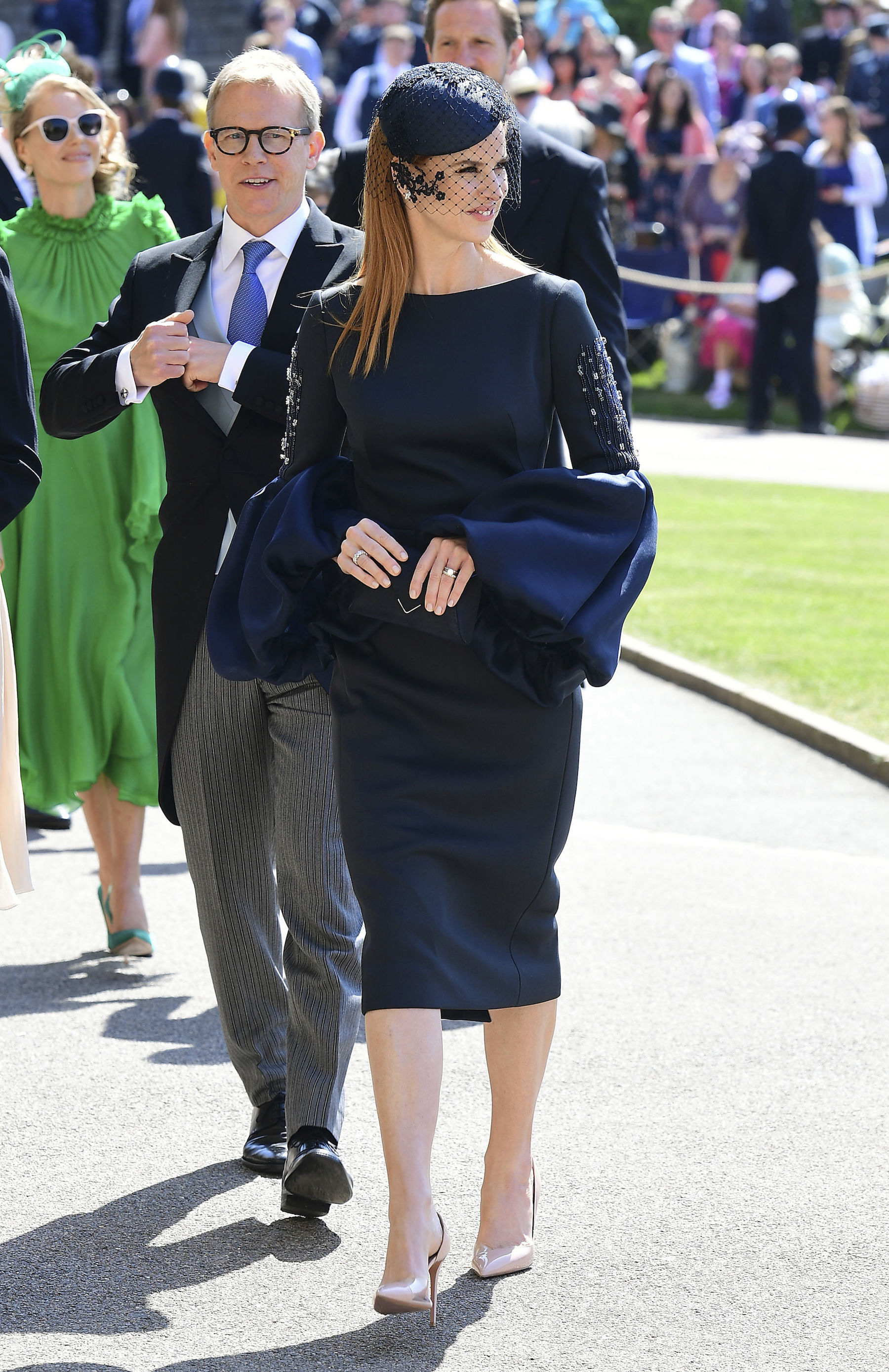 <div class='meta'><div class='origin-logo' data-origin='AP'></div><span class='caption-text' data-credit='Gareth Fuller/PA Wire'>Sarah Rafferty arrives for the wedding ceremony of Prince Harry and Meghan Markle at St. George's Chapel in Windsor Castle in Windsor, near London, England, Saturday, May 19, 2018.</span></div>