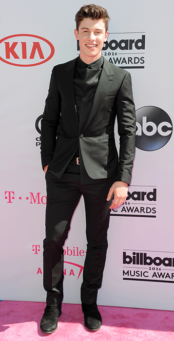 "<div class=""meta image-caption""><div class=""origin-logo origin-image ap""><span>AP</span></div><span class=""caption-text"">Shawn Mendes arrives at the Billboard Music Awards at the T-Mobile Arena on Sunday, May 22, 2016, in Las Vegas. (Richard Shotwell/Invision/AP)</span></div>"